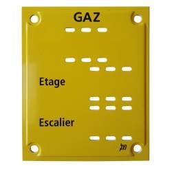 Plaque T202 pour caractères amovibles à languettes